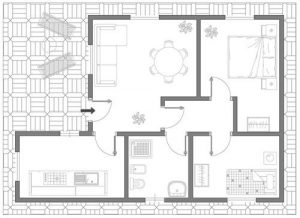 Offerta ristrutturazione appartamento roma 60 mq for Appartamento 60 mq design